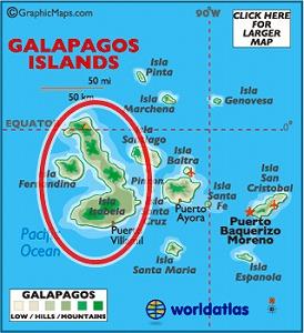 ガラパゴス地図