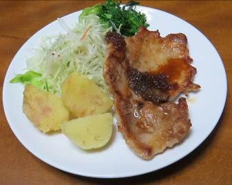 赤ジャガと肉料理