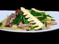 筍と肉炒め