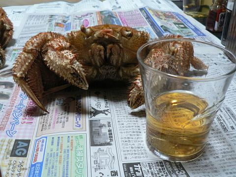 蟹とウイスキー