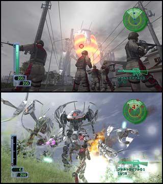 地球防衛軍 戦闘画面