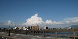 久留米大橋からの雲