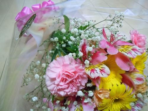 息子からの花束