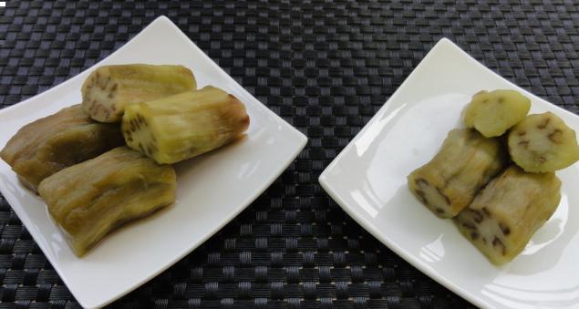 焼きナス2種比べ