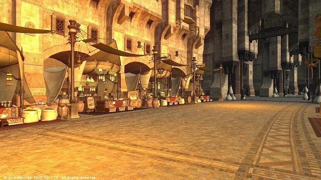 夕陽色の商店街