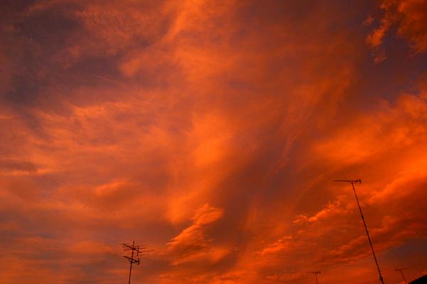 20100715成瀬の朝焼け5
