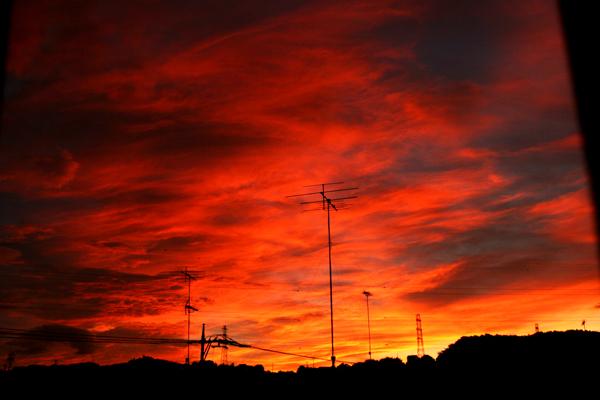 20100715成瀬の朝焼け1