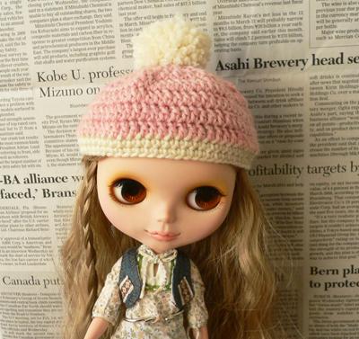 ブライス・帽子ピンク