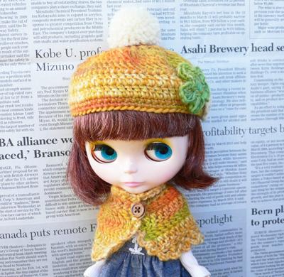 ブライス帽子・黄色-1