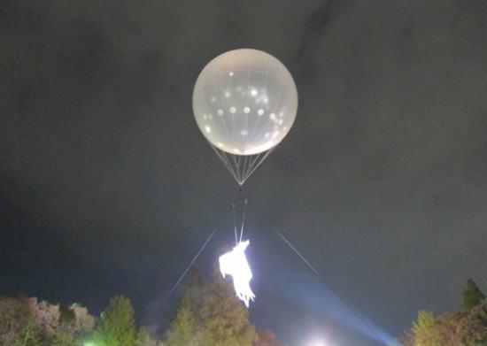 気球のした