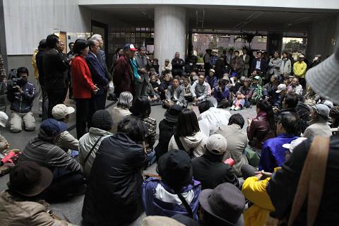 知事への抗議集会