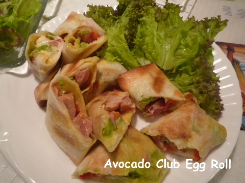 Avocado Club Egg Roll