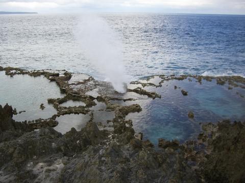 テニアン潮吹き穴