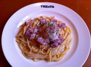 TREnTA ベーコンと半熟卵