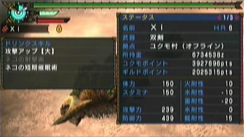 狩舞踏×双剣(14分28秒)ステータス 短期