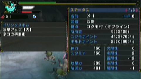 飛竜走×ガチ双剣(11分46秒)ステータス 研磨