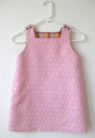 ピンクジャンパースカートbyフランス布