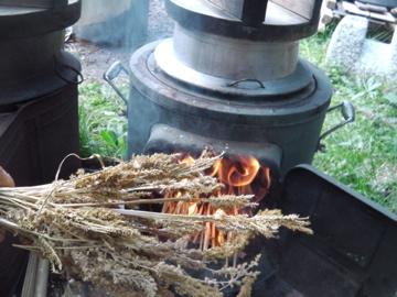 シコクビエ炊き