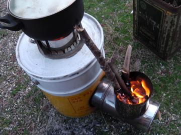 豆乳スープ作り