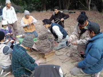ツル籠作り