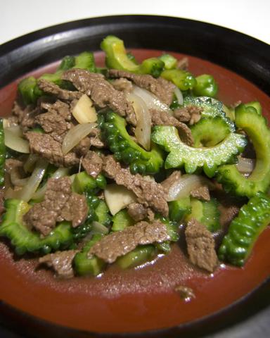 20100715ゴーヤと牛肉の炒め物