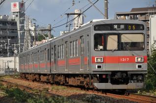 2011年9月11日 東急池上線 石川台~雪が谷大塚 1000系1017F