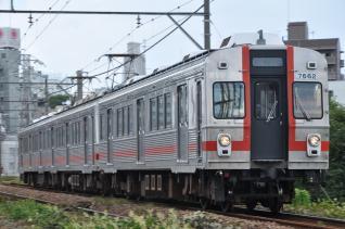 2011年9月11日 東急池上線 石川台~雪が谷大塚 7600系7602F