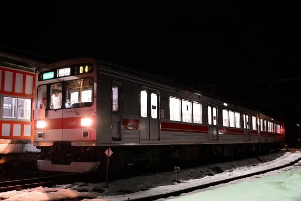 2013年1月23日 上田電鉄別所線 下之郷 1000系1004F