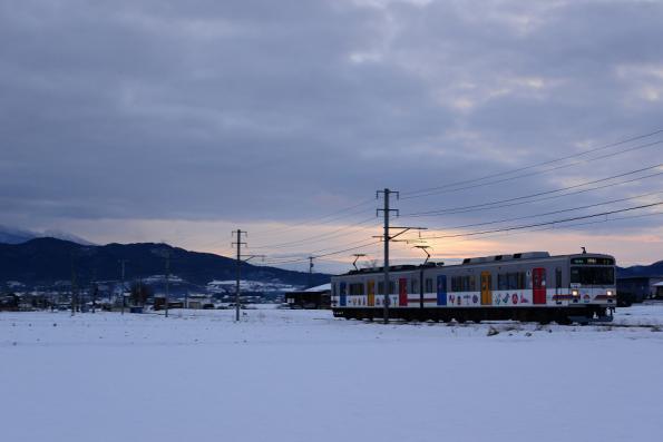 2013年1月23日 上田電鉄別所線 舞田~八木沢 1000系1002F