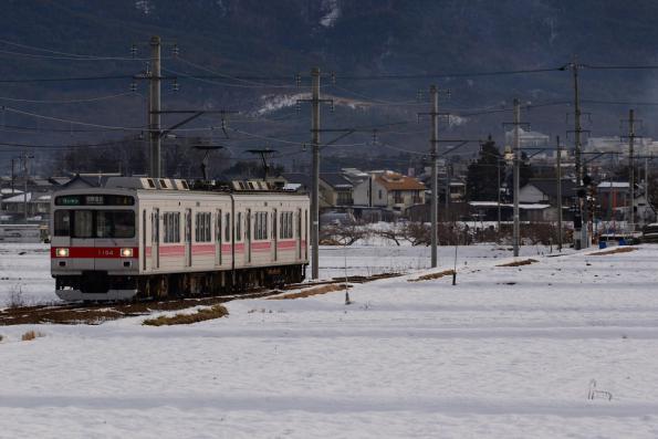 2013年1月23日 上田電鉄別所線 舞田~八木沢 1000系1004F