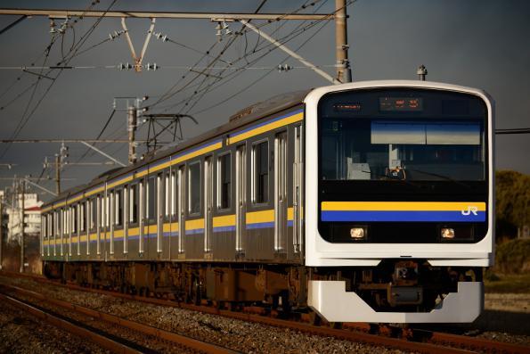 2013年1月23日 JR東日本内房線 巌根~木更津 209系C428編成