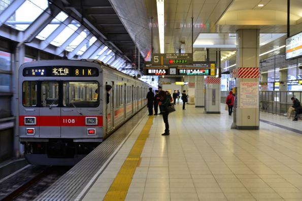 2013年2月2日 東京メトロ日比谷線 北千住 東急1000系1008F