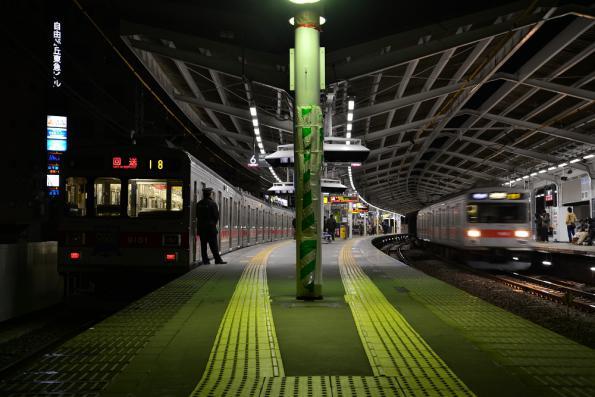 2013年2月10日 東急東横線 自由が丘 9000系9001F・9012F