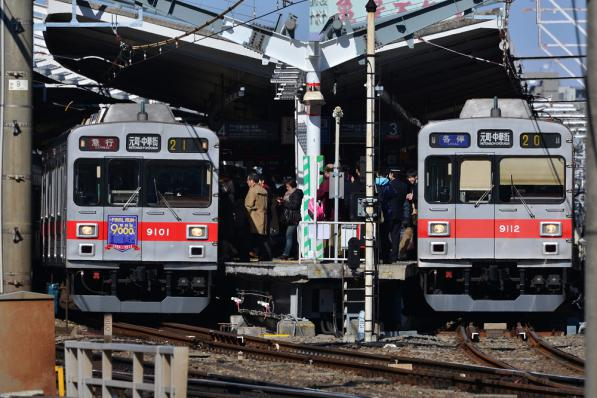2013年2月16日 東急東横線 自由が丘 9000系9001F・9012F
