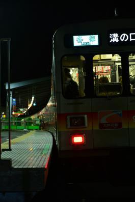 2013年2月23日 東急大井町線 戸越公園 9000系9006F 戸越公園扉非扱い終了