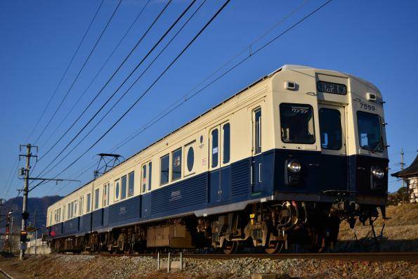 2013年2月23日 上田電鉄別所線 寺下~神畑 7200系7253F