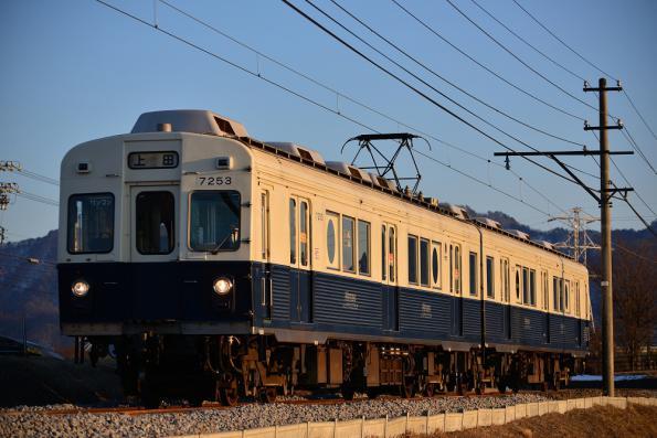 2013年2月23日 上田電鉄別所線 下之郷~大学前 7200系7253F