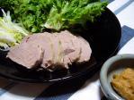 塩豚サニーレタス巻き