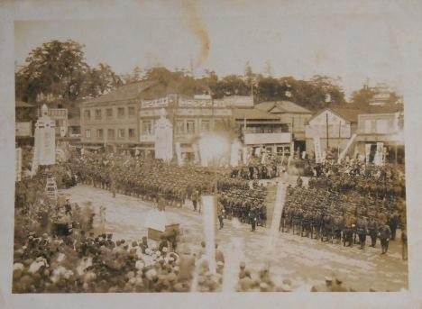 水戸駅前の水戸城