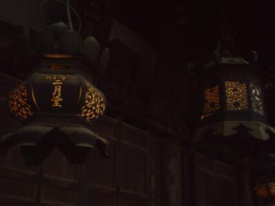 rich plum-火の入った灯篭