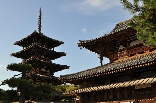rich plum-金堂と五重塔