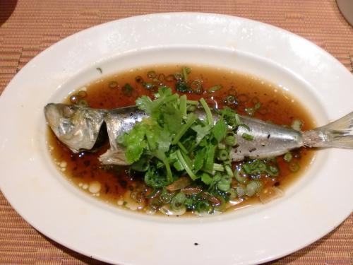 天然鮮魚の香港風蒸籠蒸し(施家菜)140106_convert_20140106191308