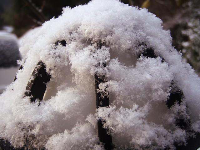 外灯の雪110110