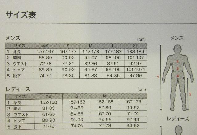 SHIMANOサイズ表