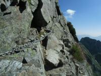 130816 剱岳03 鎖場
