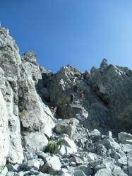 130816 剱岳05 カニの縦ばい