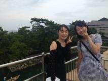 高松城跡にて