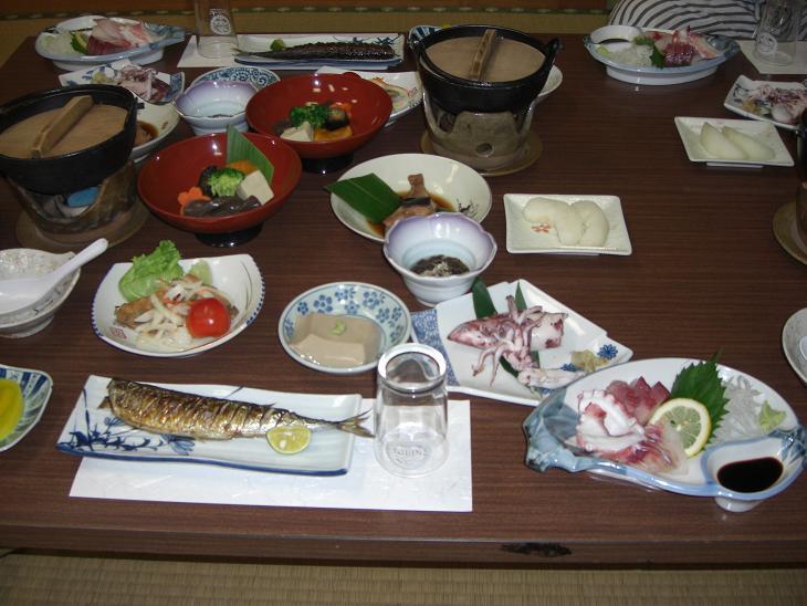 羽合温泉 民宿 夕食