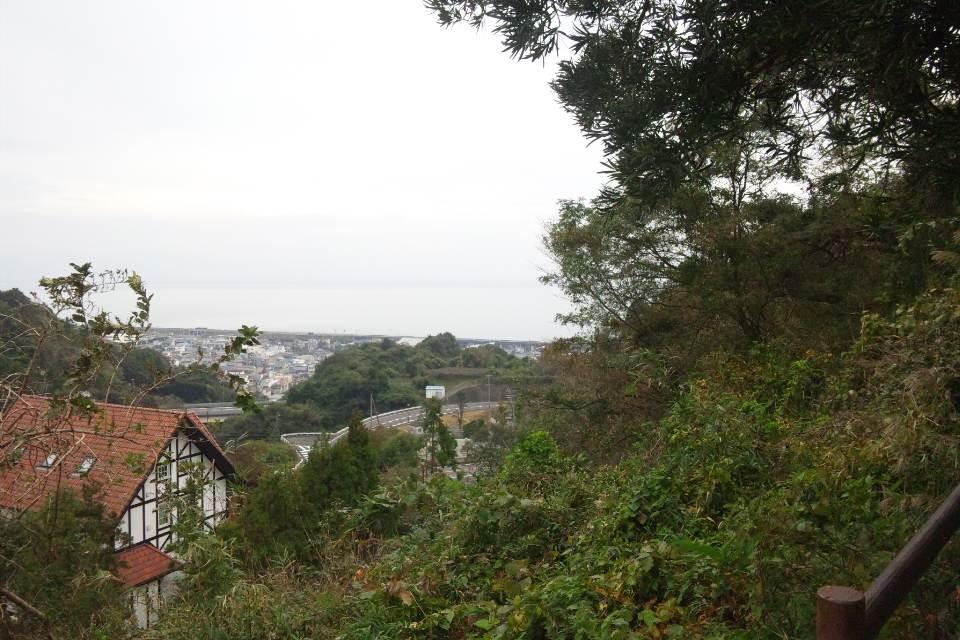 蒲原城からの眺め