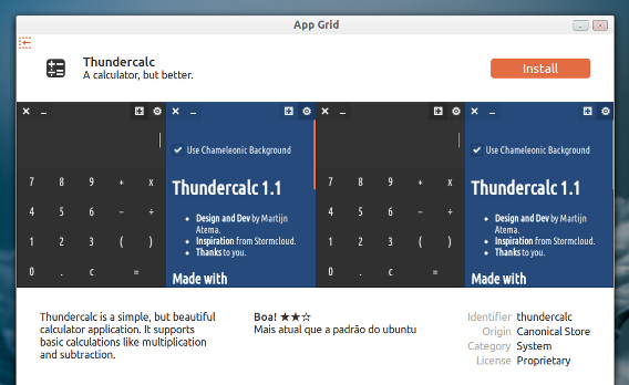 App Grid Ubuntuアプリ アプリの詳細画面